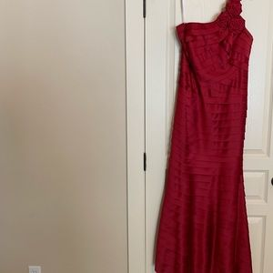 Candy apple red formal dress